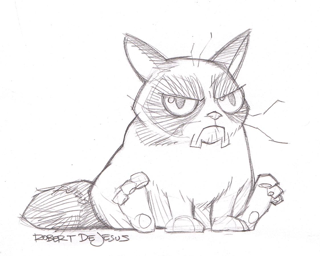 Прикольные картинки карандашом котиков