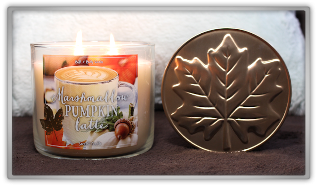Bath & Body Works Marshmallow Pumpkin Latte items Haul and Review 3 wick candle beauty blog blogger fall cozy favorites