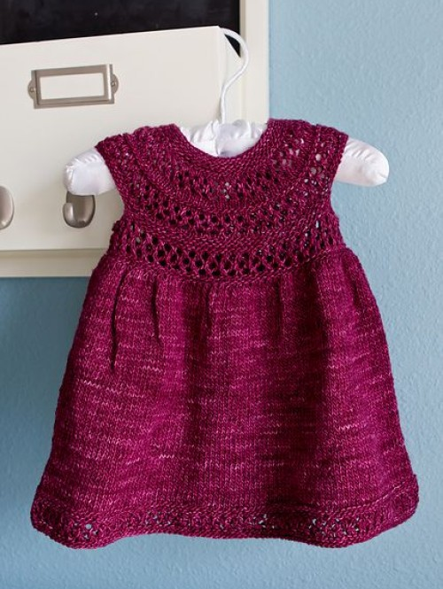 Mischa Baby Dress - Knitting Pattern