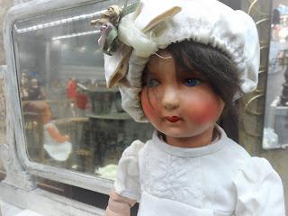muñeca americana principios del XX PM Estudio en el desembalaje de Bilbao