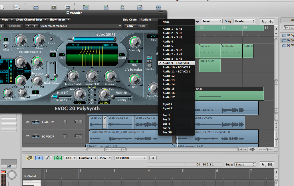 Vinnie's Production Tips: Logic Pro: EVOC 20 Poly Synth