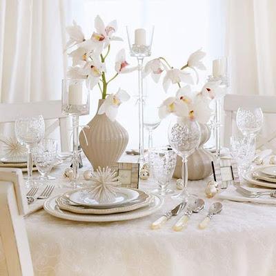 deco de table blanc