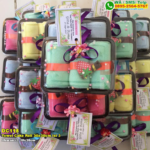 Towel Cake Roll 30x30cm Isi 3