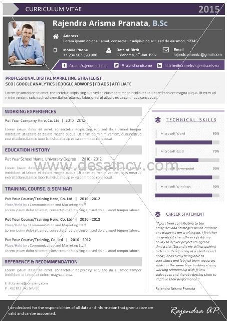 Contoh CV Microsoft Word Kreatif