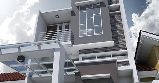 Desain Eksterior Rumah Mewah 1 Lantai  lingkar warna daftar lengkap desain rumah minimalis terbaru