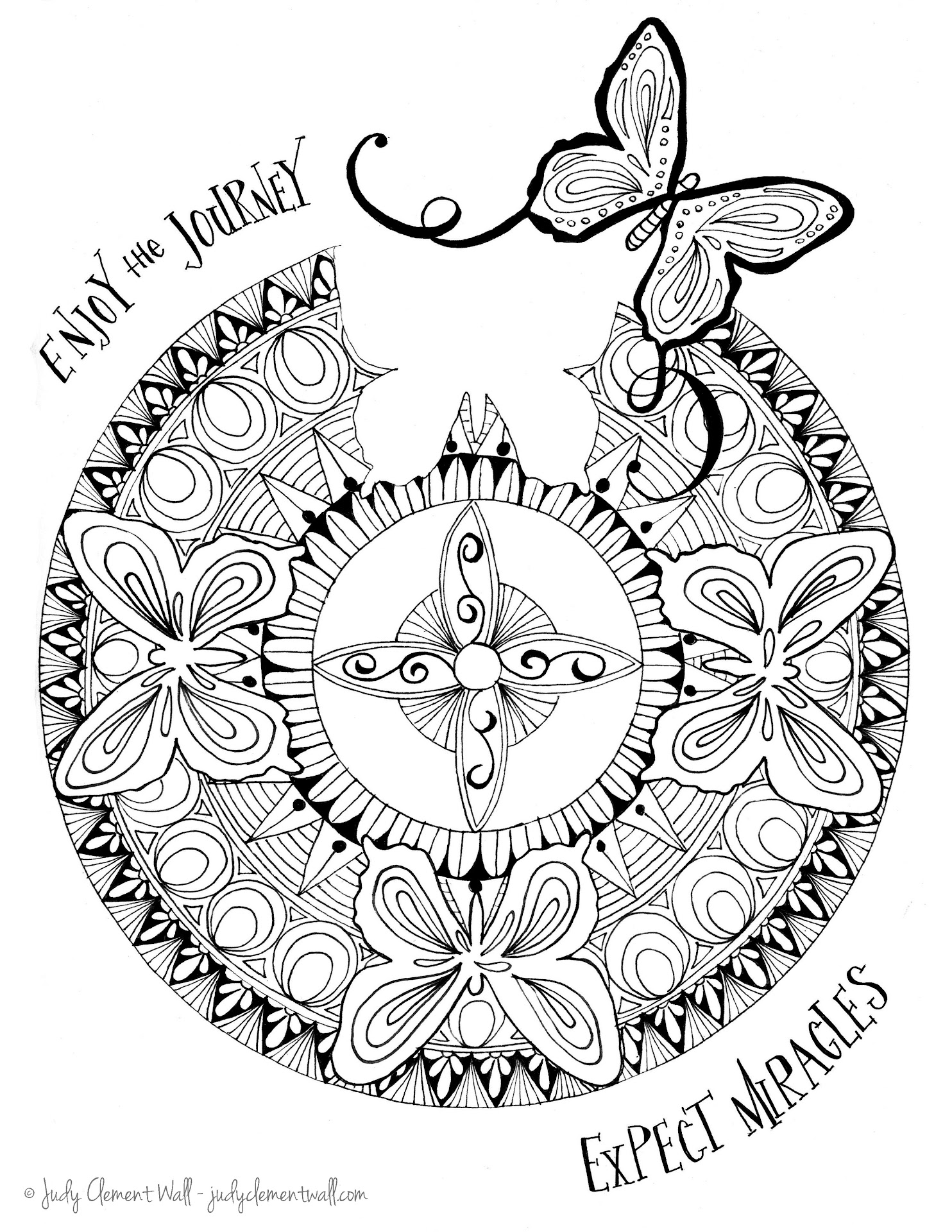 Best HD Butterfly Mandala Coloring Pages Printable ...