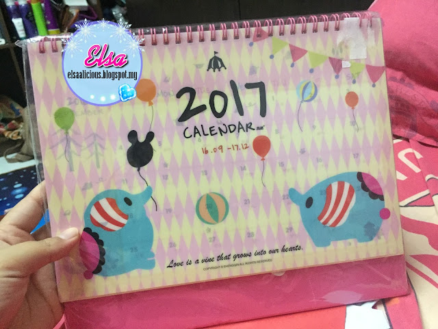 GIFT REVIEW: Calendar 2017 From Blogger Dearies Couple
