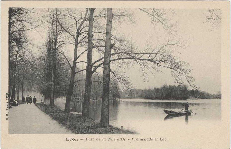 La promenade du lac du parc de la tête d'or