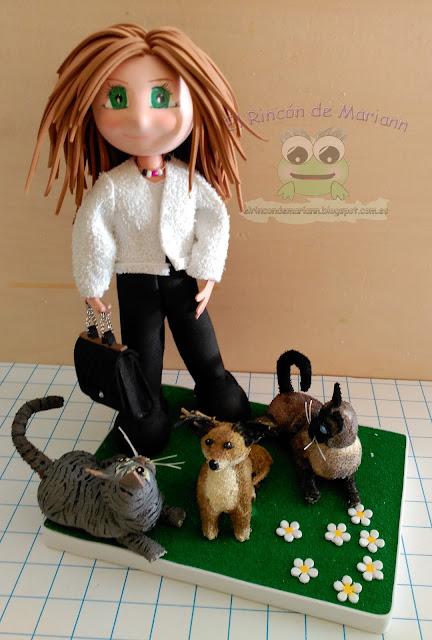 Fofucha con sus mascotas