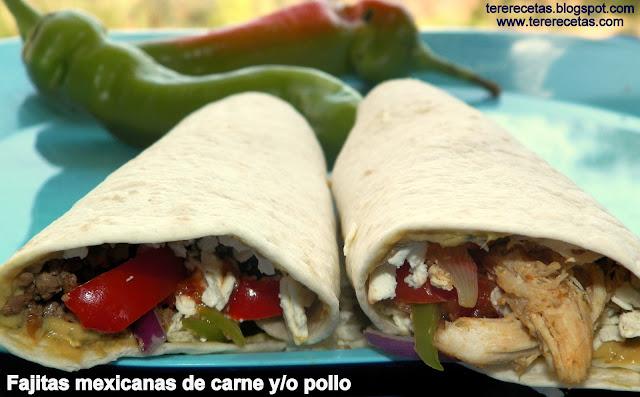 fajitas mexicanas carne o pollo 02