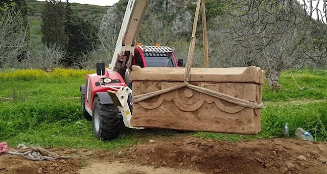 Two detained for smuggling 1,700-year-old sarcophagus near Ephesus