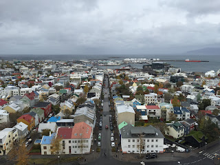 City views from the Hallgrimskirkja observation tower