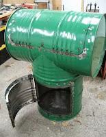 hornos hechos con tanques de acero reciclados