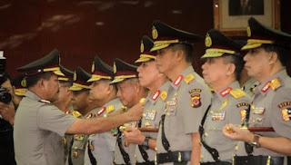 Sejumlah Perwira Tinggi Polisi Dimutasi