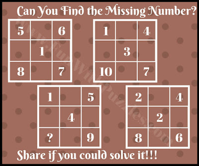 Tricky math brain teaser picture puzzle