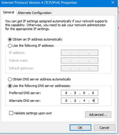 Ganti DNS Google