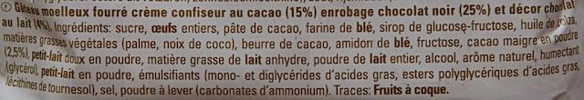 Yes - Nestlé - Gâteau - Yes Cacao ingrédients - Génoise - Dessert - Souvenir années 80 -