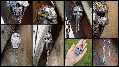 skull, metal, cool