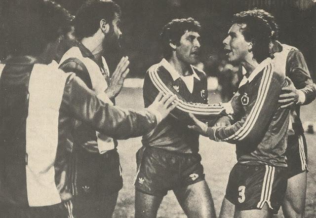 Chile y Paraguay en partido amistoso, 17 de agosto de 1983