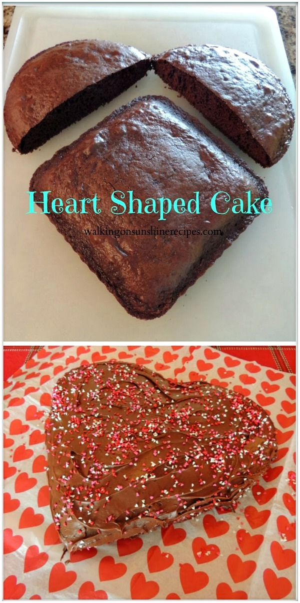 Heart Shaped Cake from Walking on Sunshine