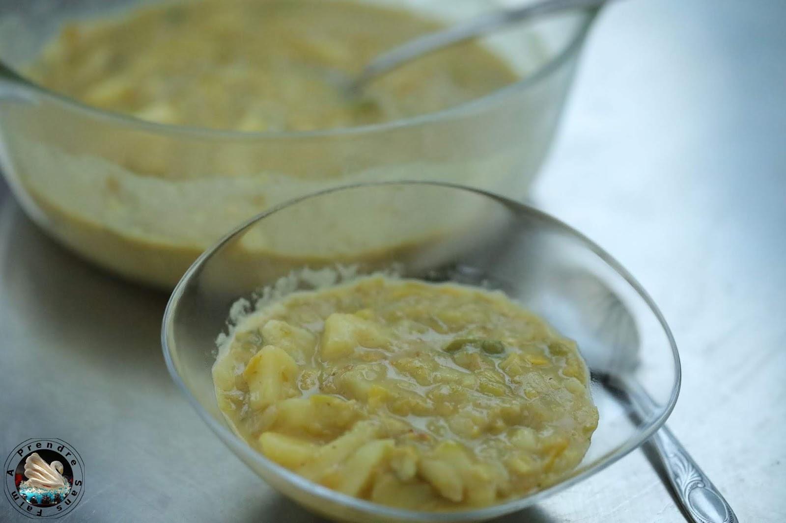Soupe poireaux coco curry