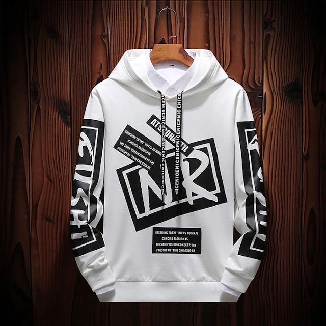 Sweater NR Putih dan Hitam