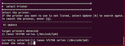installing canon pixma ip2770 driver in ubuntu