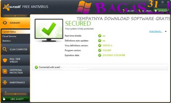 Avast! Free Antivirus 8.0.14 Beta 2