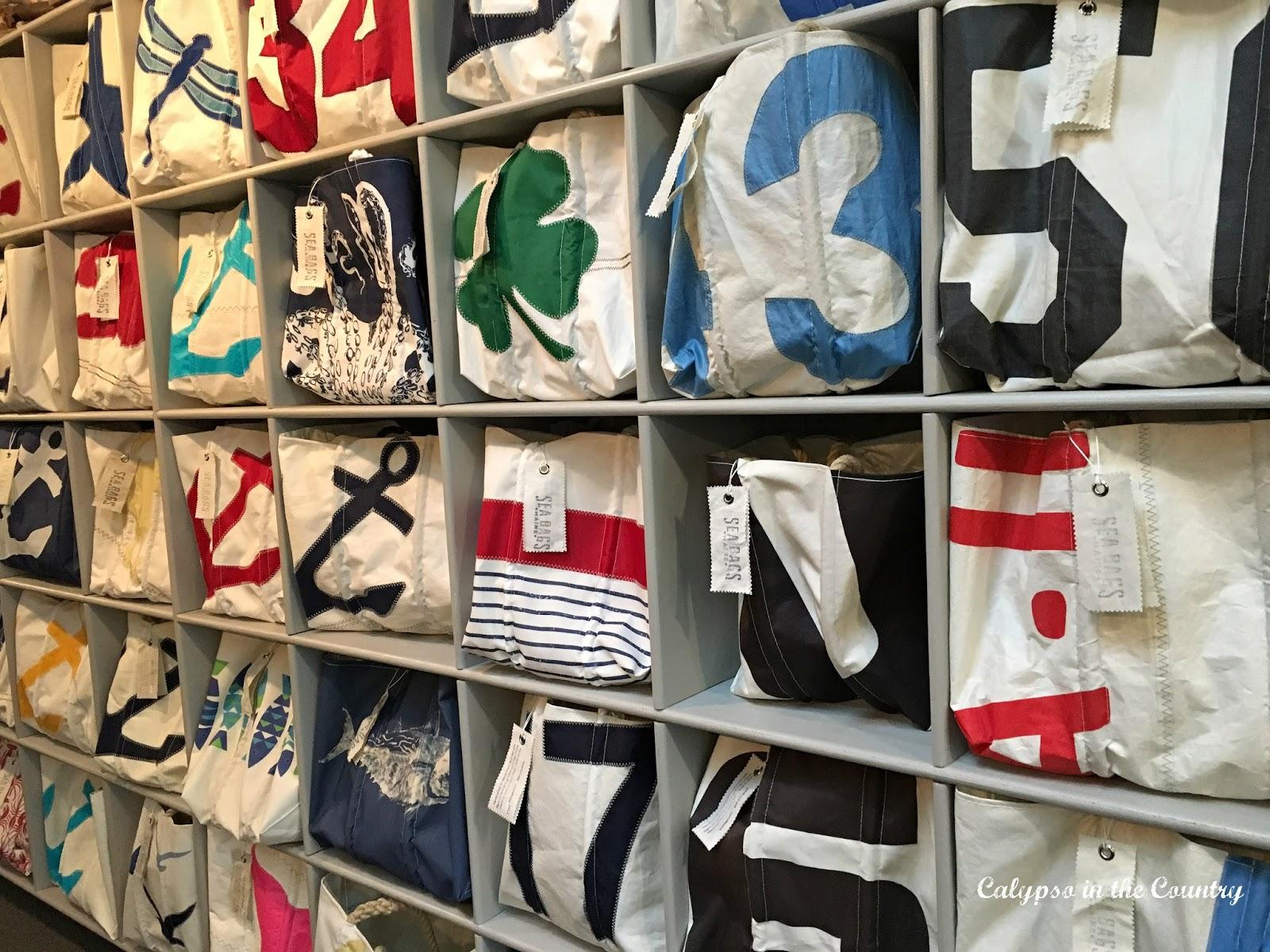 Display at Sea Bags store