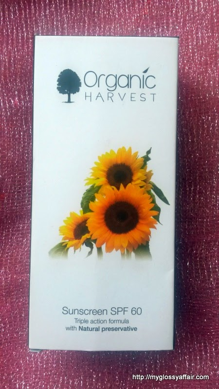 Organic Harvest Sunscreen SPF 60 Review