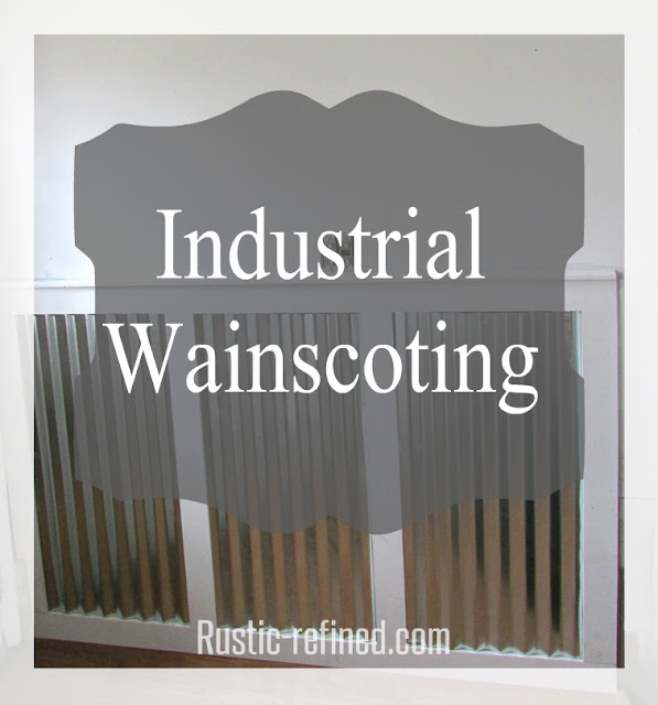 Galvanized industrial wainscoting