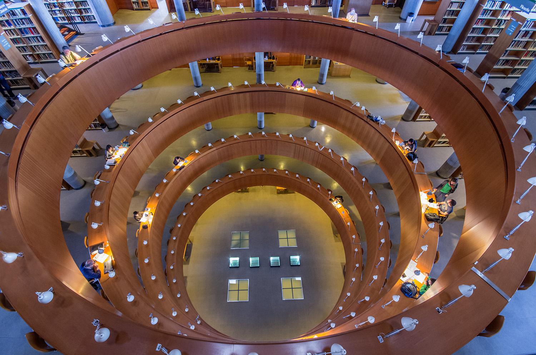 Javiersanchez fotograf a editorial algunas bibliotecas de for Biblioteca uned