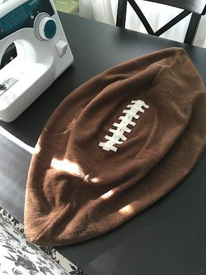 sewing fleece football