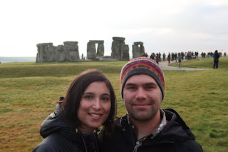 Stopping for a couples pic at Stonehenge