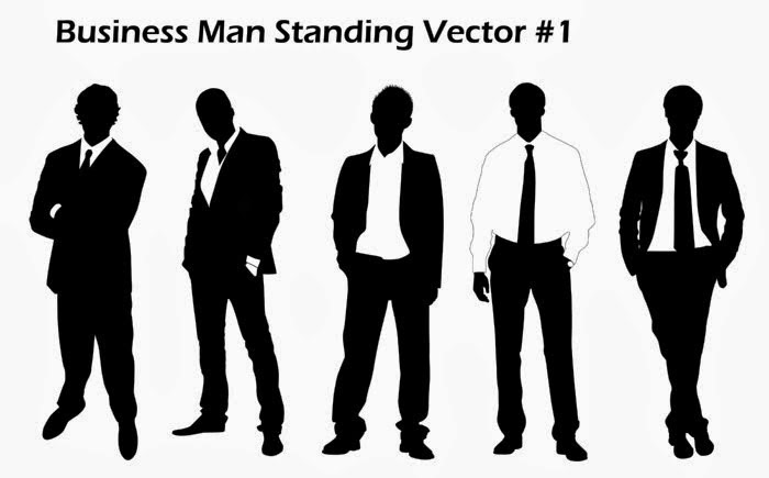 Business Men Vector / Silhouettes