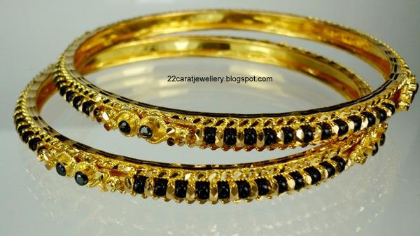 Black Beads Nallapusalu Bangles Sets Designs Jewellery