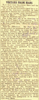 Visitors Form Mars - Dundee Courier (Angus, Scotland) 9-22-1926