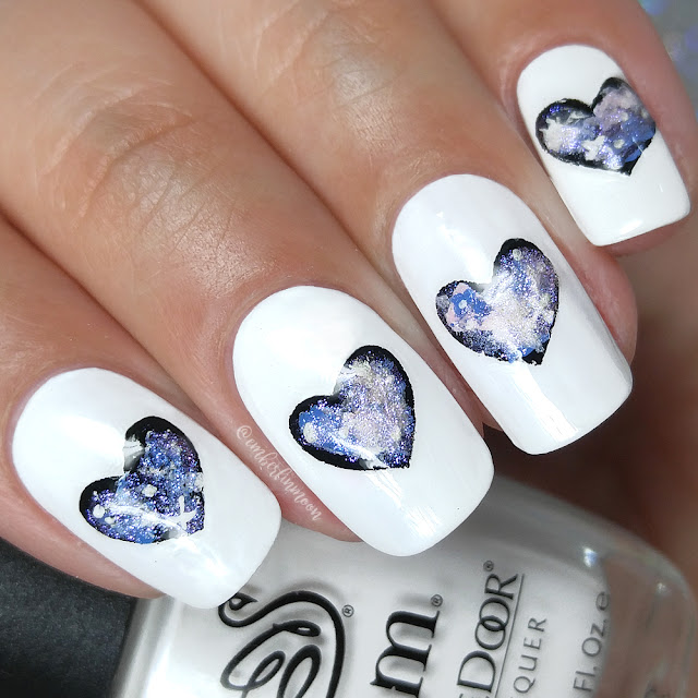 Galaxy Heart Nail Art Design Tutorial || Valentine's Day Nails