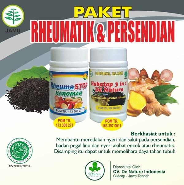 Rheumastop dan Habatop Herbal de Nature