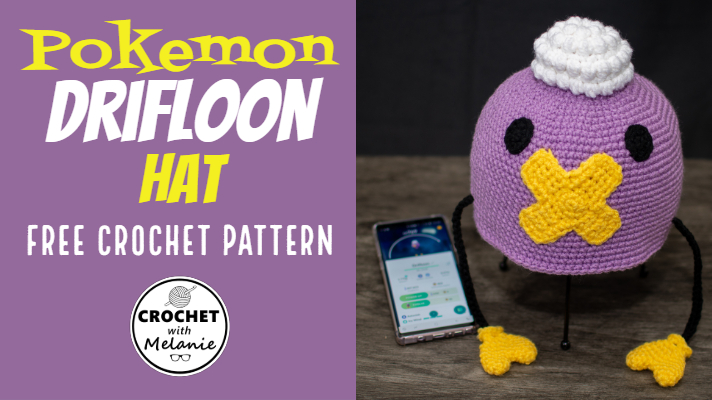 Pokemon slouchy hat - Crochet - Tutorial - English - YouTube | 400x712