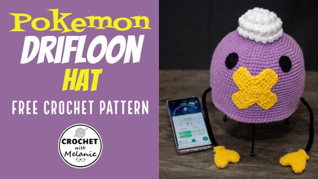 Pokemon Drifloon Hat - Free Crochet Pattern
