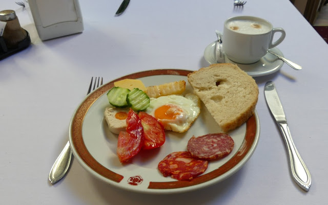 Frühstück im Hotel Imparatul Romanilor Römischer Kaiser, Sibiu