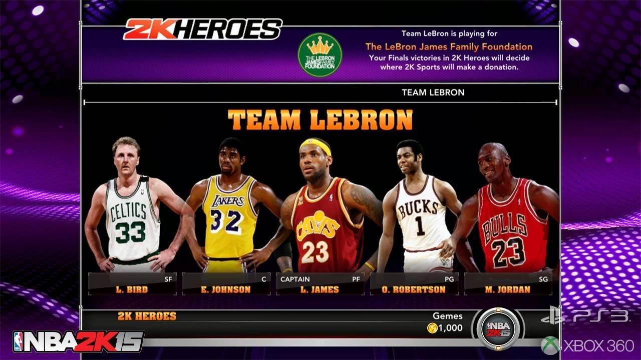 NBA 2k15 2k Heroes Mode : Team LeBron