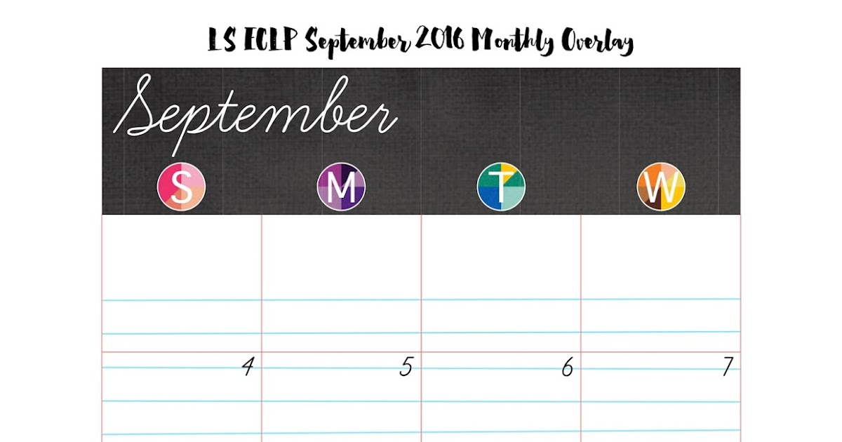 ... 2016 Monthly Overlays - Free Planner Printable | My Planner Envy
