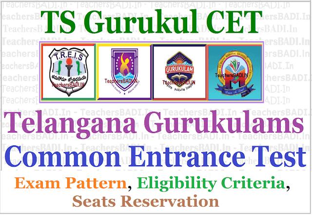 TS Gurukulam CET Entrance Exam Pattern, Eligibility Criteria, Seats Reservation 2017