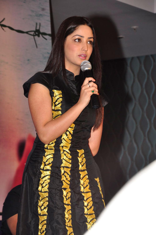 fair and lovely Yami goutham photos at gouravam trailer launch