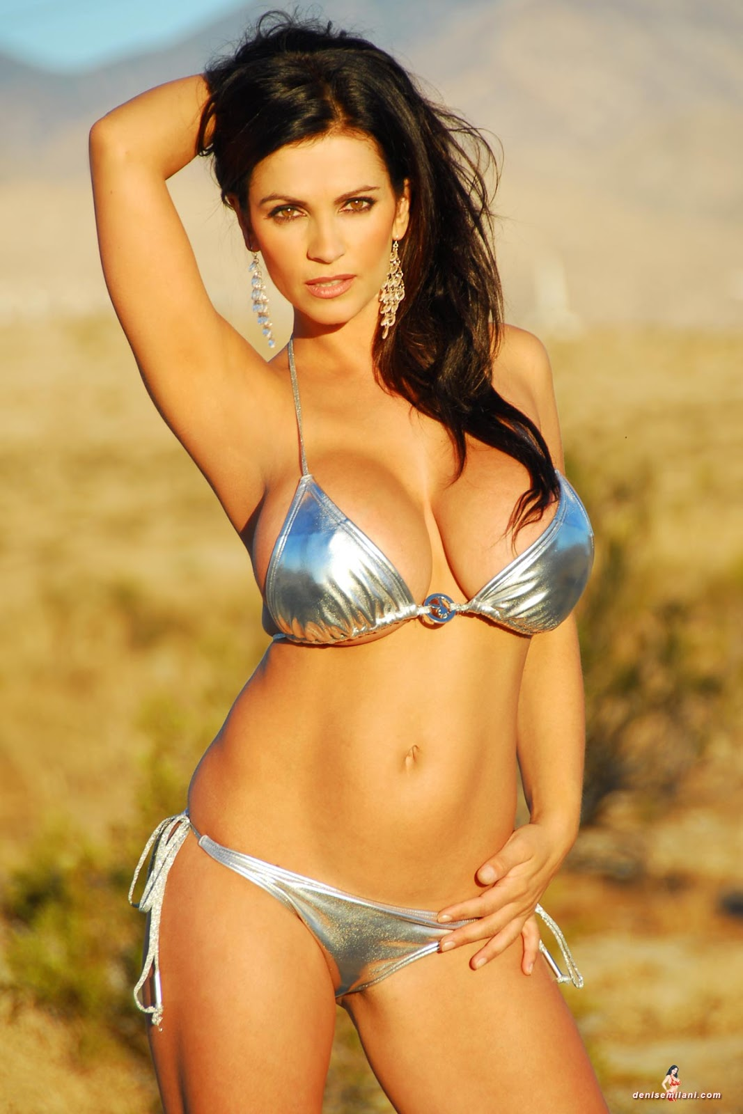 Denise Milani Sexiest Photoshoots: Denise Milani: Silver Sun