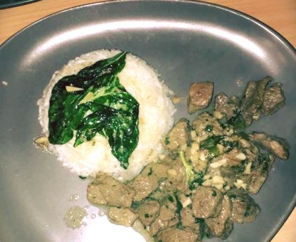 Stir-fried beef with basil
