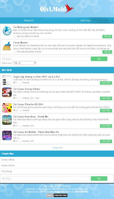 6 template blogspot cho wap đẹp