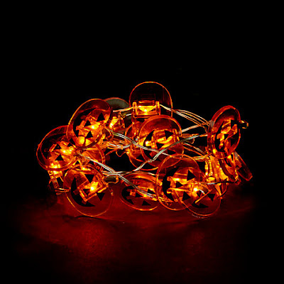 Pumpkin string lights John Lewis
